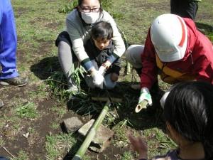 竹スコップ作りノコ s
